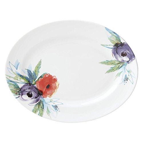 Lenox Passion Bloom Oval Platter White