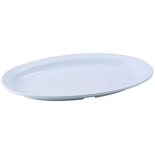Winco MMPO-118W White 115 Oval Melamine Platter - 24  CS