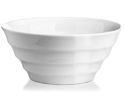 DOWAN 2 Quart Porcelain ServingMixing Bowls- 4PacksWhite