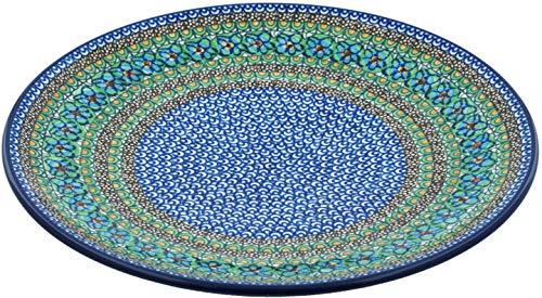 Polish Pottery Platter 14-inch Mardi Gras UNIKAT