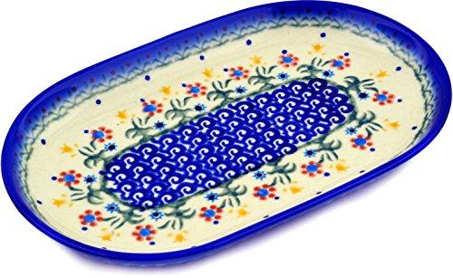 Polish Pottery Platter 9-inch Spring Flowers