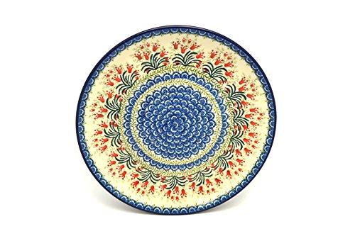 Polish Pottery Platter - Round 12 14 - Crimson Bells