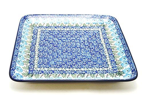 Polish Pottery Platter - Square - Antique Rose