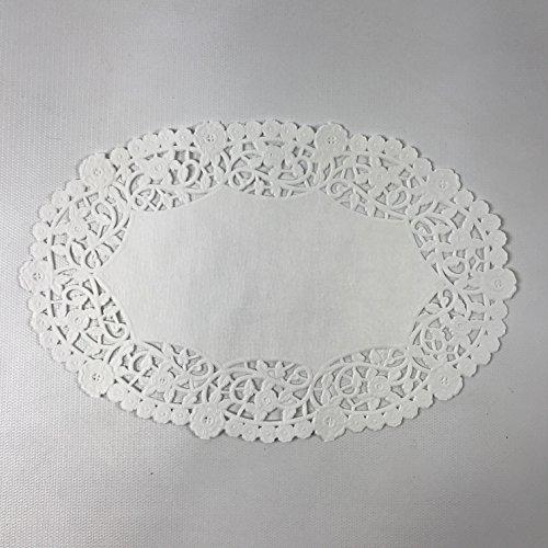 Black Cat Avenue 6 x 9 White Oval Lace Paper Doilies 50 Count