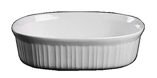 Corning Ware French White Oval Casserole  No Lid  2 12 Quart   F-2-B