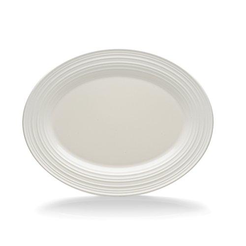 Mikasa Swirl White Oval Serving Platter 14-Inch