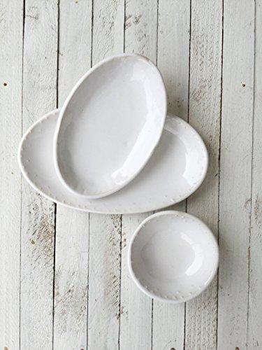 White Oval Nesting Dish Set