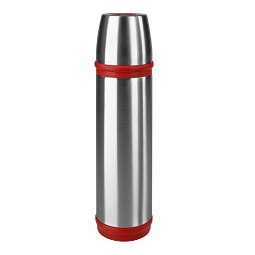 Emsa Captain Vacuum Flask Stainless SteelRed 05 L Tea Coffee Jug Thermos Flask 507517