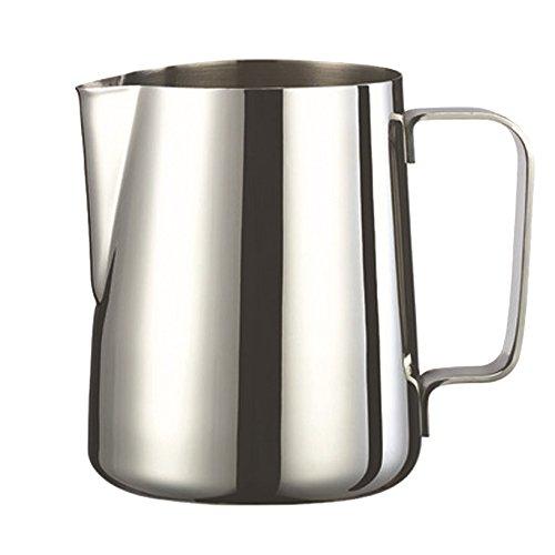 Premium-grade Stainless Steel Milk Foaming Pitcher Coffee Steaming Jug 12 oz