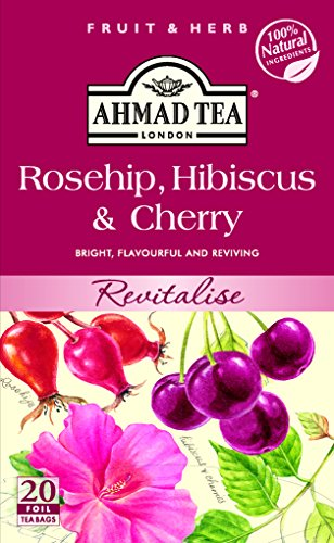 English Teas Rosehip Hibiscus and Cherry - Fruit and Herbal Tea - Tagged