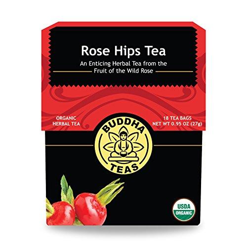 Organic Rosehips Tea - Kosher Caffeine-Free GMO-Free - 18 Bleach-Free Tea Bags