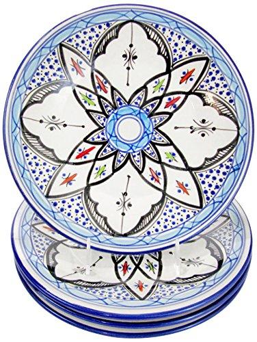Le Souk Ceramique TIB43 Stoneware Dinner Plates Set of 4 Tibarine