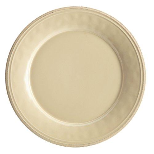 Rachael Ray Cucina Dinnerware 10-12-Inch Stoneware Dinner Plate Almond Cream