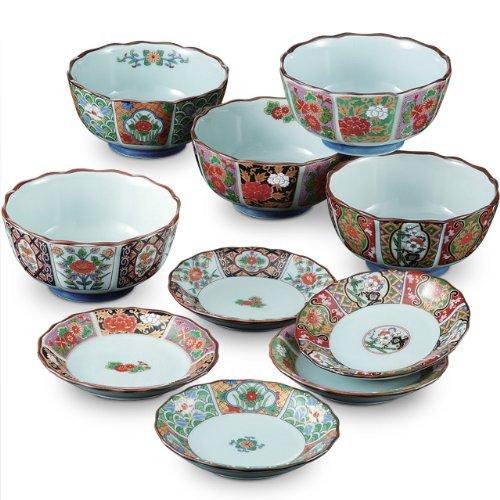 CtoCJAPAN Ceramic Plate Set Bowl 10pcs Premium Quality Porcelain Made in Japan No226932