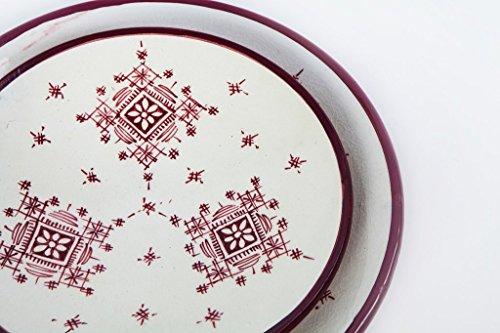 Set of 8 Handpainted Moroccan Ceramic Plates