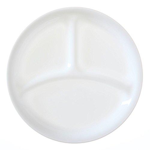 "Corelle Livingware Winter Frost White 85"" Divided Lunch Plate Set of 4"