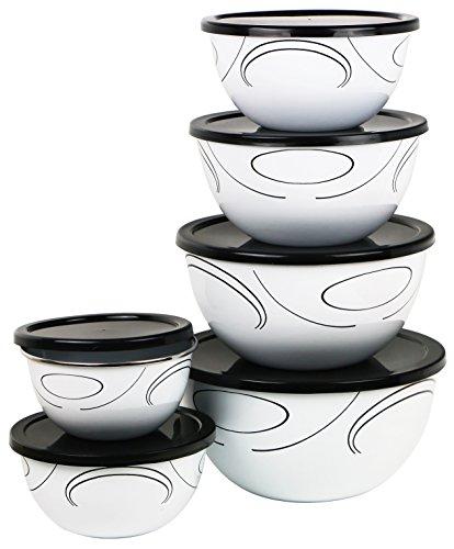 Corelle Coordinates 12-Piece Large Bowl Set Simple Lines