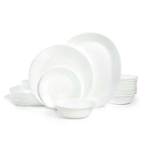 Corelle Livingware 38-Piece Dinnerware Set Winter Frost White Service for 12