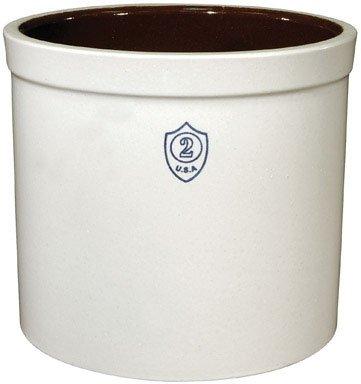 Ohio Stoneware 02436 2 gallon Bristol Crock Small White