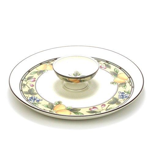 Garden Harvest by Mikasa Stoneware Chip Dip Plate