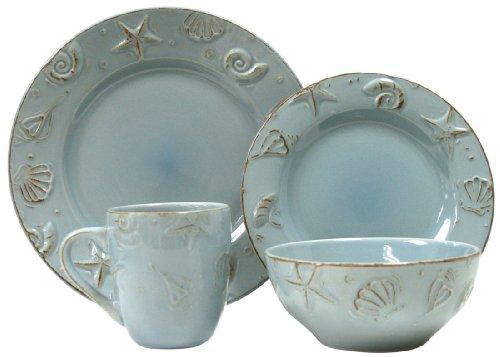 Thomson Pottery 16-pc Cape Cod Set AQUA BLUE