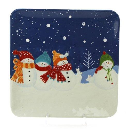 Snow Days by St Nicholas Square Stoneware Dinner Plate