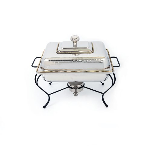 Star Home 4-Quart Rectangle Stainless Steel Chafing Dish