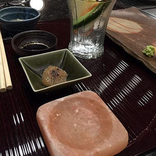 "HijiNa Himalayan Salt Plate with Holowed4x4x1""- BBQ Sushi SaladTepanyaki use 1"