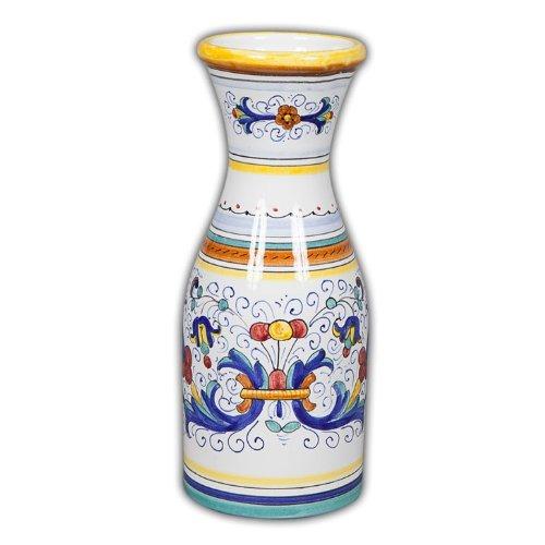 Arte DItalia Imports Hand Painted Italian Ceramic Ricco Wine Carafe - Handmade in Deruta
