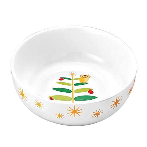 Rachael Ray Dinnerware Holiday Hoot 10-Inch Round Serving Bowl