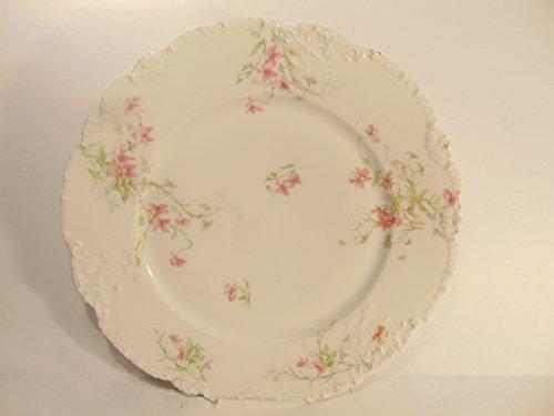 Theo Haviland Fine Limoges Porcelain 10 Dinner Plate Pink Floral Design