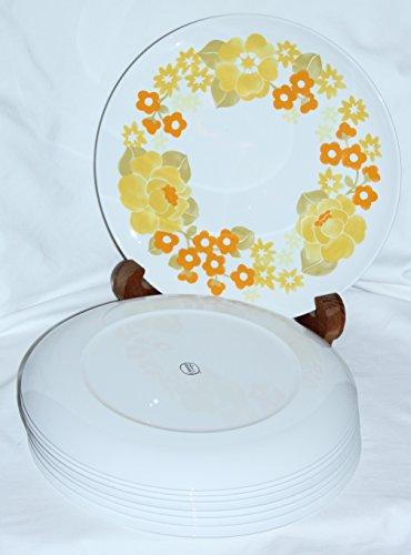 Vintage Corning Centura SUMMERHILL Floral Dinner Plates - Set of 8