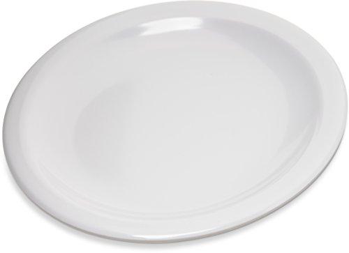 Carlisle 4350502 Dallas Ware Melamine Bread and Butter Plate 066 x 558 White Case of 48