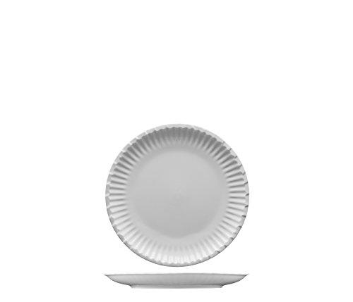 Fortessa Fortaluxe Food Truck Chic Paper Plate Design AppetizerBread ButterDessert Plate 6-Inch Set of 4