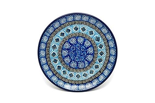 Polish Pottery Plate - Bread Butter 6 14 - Aztec Sky
