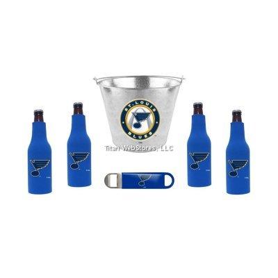 NHL Blues - 5 Quart Beer Bucket Bottle Suit 4 and Opener Set  St Louis Blues Beer Bucket Gift Set