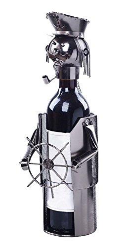 Wine Holder Stainless Steel Wine Rack Modern Metal Wine Rack Captain