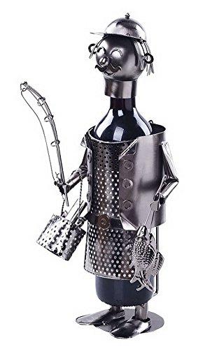 Wine Holder Stainless Steel Wine Rack Modern Metal Wine Rack Fisherman