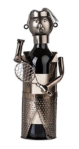 Wine Holder Stainless Steel Wine Rack Modern Metal Wine Rack Tennis Player