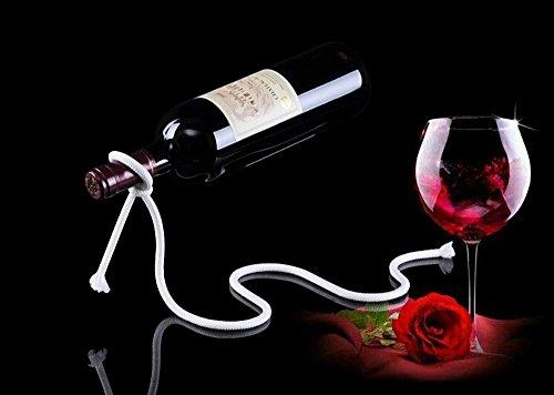 LUCKSTAR Wine Bottle Stand - Magic Red Wine Bottle Holder Floating Rope Wine Bottle Rack Illusion Rack Stand Suit for RestaurantsBarsInterior Decoration