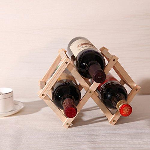 Wine Rack - Countertop Wine Rack - New High Quality Classical Folding Wooden Red Wine Holder Racks 3 Bottles Wine Stand Display Shelf For Kitchen Bar - 6 Bottle Wine Rack