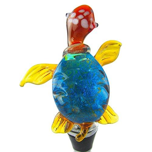 Zees Inc Pocket Bottles 14117 Handmade Glass Wine Bottle Stopper Multicolor