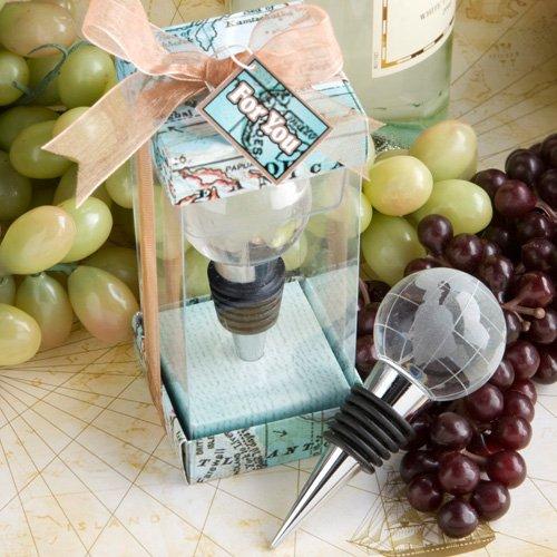 56 Glass Globe Design Wine Bottle Stoppers Wedding Favors