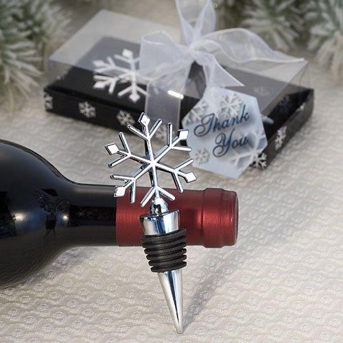 Winter Themed Wine Bottle Stopper Wedding Favors 15