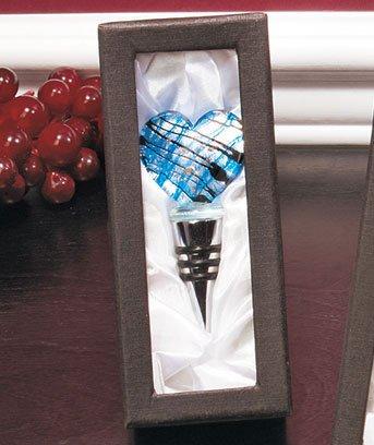 Art Glass Wine Bottle Stoppers Heart