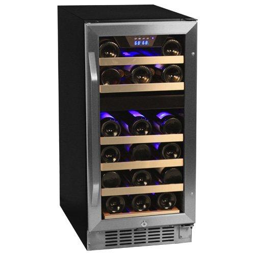 EdgeStar 26 Bottle Dual Zone Wine Cooler - Stainless Steel