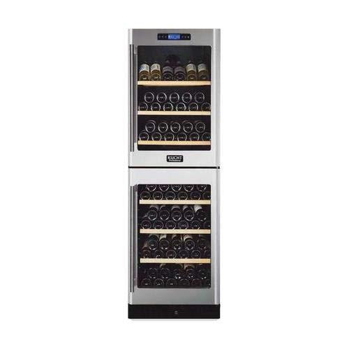 Kucht K430AV22 155-Bottle Dual Zone Wine Cooler Built-in with Compressor Stainless Steel