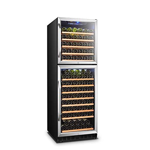 Lanbo Dual Door Dual Zone Built-in Wine Cooler with Front Exhaust 162 Bottle