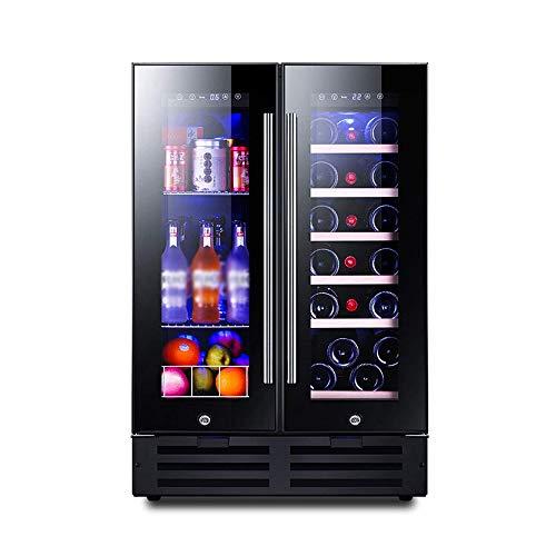 NILINBA 116L Dual Zone Wine Cooler Intelligent MemorySilent Operation RefrigeratorTouch Temperature Control for WineBeverageMedicine
