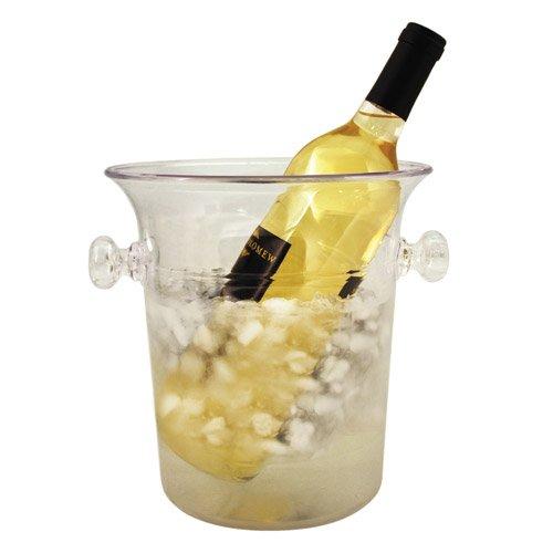 Clear Acrylic 1-Bottle Wine Champagne Chiller Ice Bucket by True